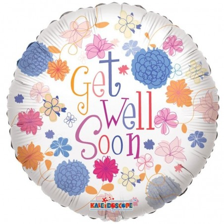 Get Well - Pastel Flowers £6.99