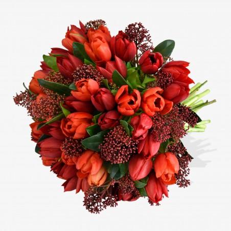 Tulips and Skimmia £21.99